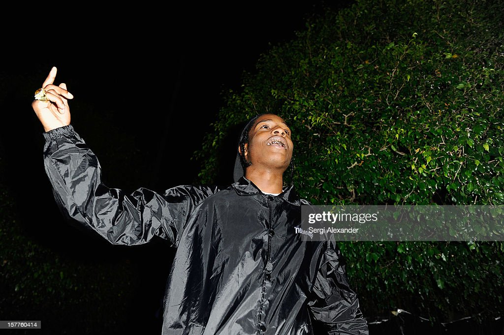 Musician A$AP Rocky attends The Hole Gallery concert sponsored by Playboy and hosted by Delano at Delano Hotel on December 5, 2012 in Miami, Florida.