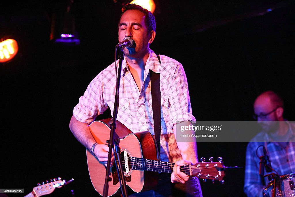 Musician Aaron Kyle of Geronimo Getty performs onstage at El Cid on November 15, 2013 in Los Angeles, California.