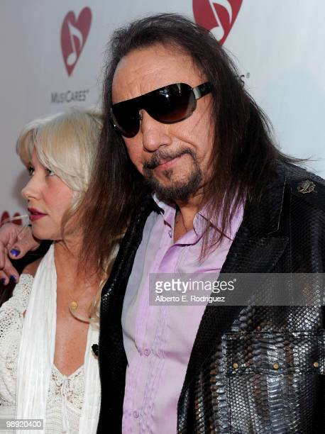 Musician Ace Frehley and fiance arrive at the 6th Annual MusiCares MAP Fund Benefit Concert at Club Nokia on May 7 2010 in Los Angeles California