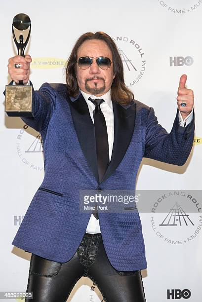 Musician Ace Frehley attends the 29th Annual Rock And Roll Hall Of Fame Induction Ceremony at Barclays Center on April 10 2014 in the Brooklyn...