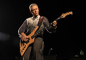 Musician Adam Clayton of the band U2 performs at Rose Bowl during their U2 360 Tour on October 25 2009 in Pasadena California