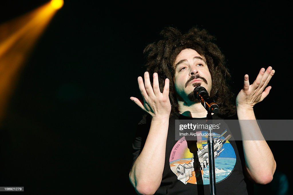 Musician Adam Duritz of Counting Crows performs onstage at The Wiltern on November 24, 2012 in Los Angeles, California.