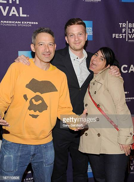 Musician Adam Horovitz of The Beastie Boys director Matt Wolf and musician Kathleen Hanna attend the screening of 'Teenage' during the 2013 Tribeca...