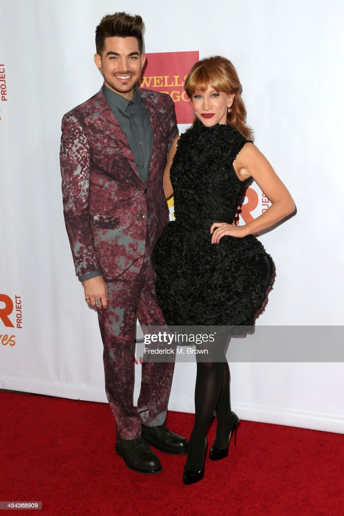 Musician Adam Lambert (L) and comedian Kathy Griffin attend 'TrevorLIVE LA' honoring Jane Lynch and Toyota for the Trevor Project at Hollywood Palladium on December 8, 2013 in Hollywood, California.