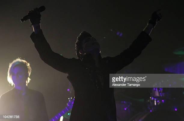 Musician Adam Lambert performs at Hard Rock Live in the Seminole Hard Rock Hotel Casino on September 19 2010 in Hollywood Florida