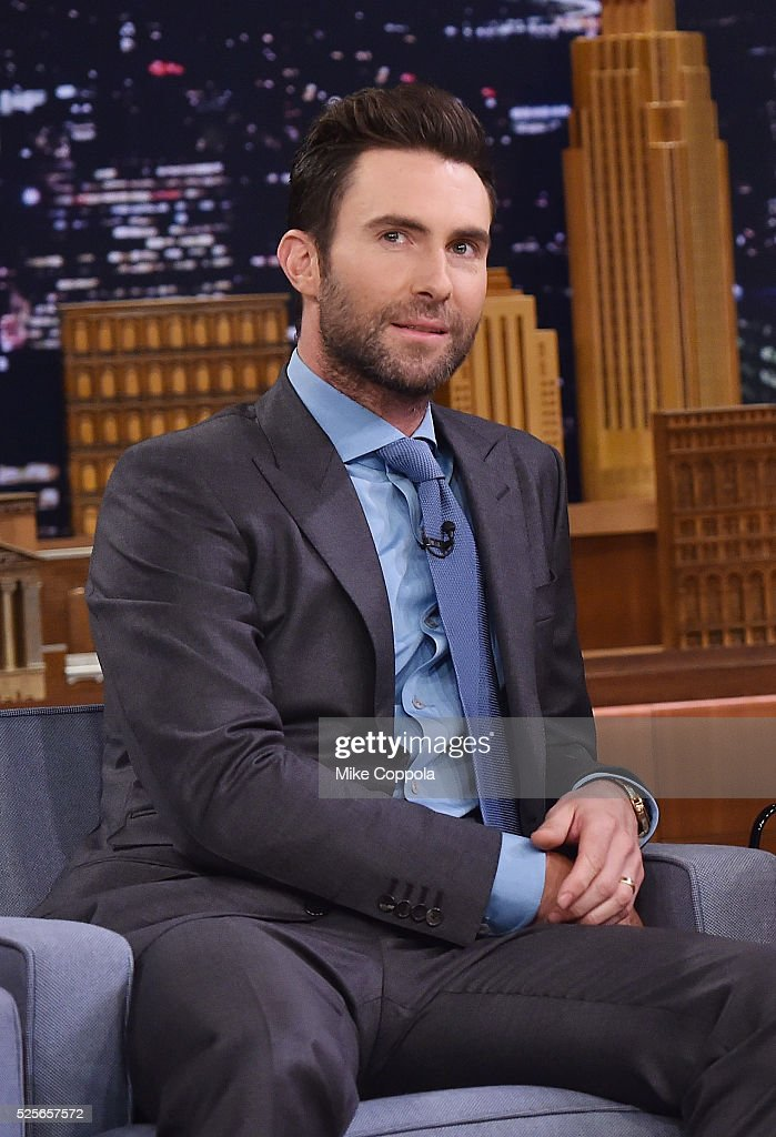 Musician Adam Levine visits 'The Tonight Show Starring Jimmy Fallon' on April 28, 2016 in New York, New York.