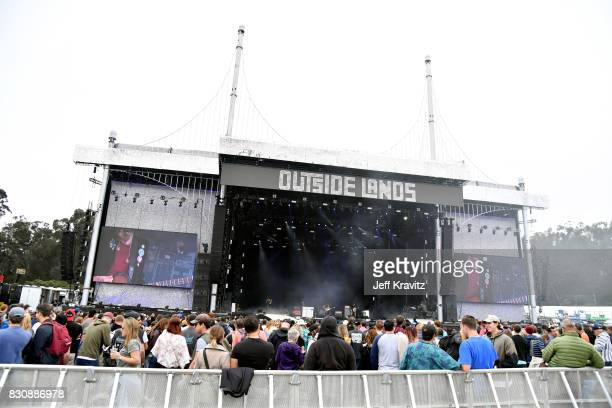 Musician Adam Smith James Bagshaw Sam Toms and Thomas Warmsley of Temples perform on Lands End stage during the 2017 Outside Lands Music And Arts...