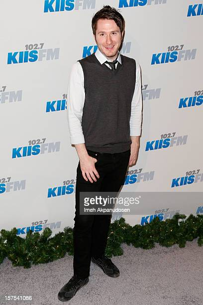 Musician Adam Young of Owl City attends KIIS FM's 2012 Jingle Ball at Nokia Theatre LA Live on December 3 2012 in Los Angeles California