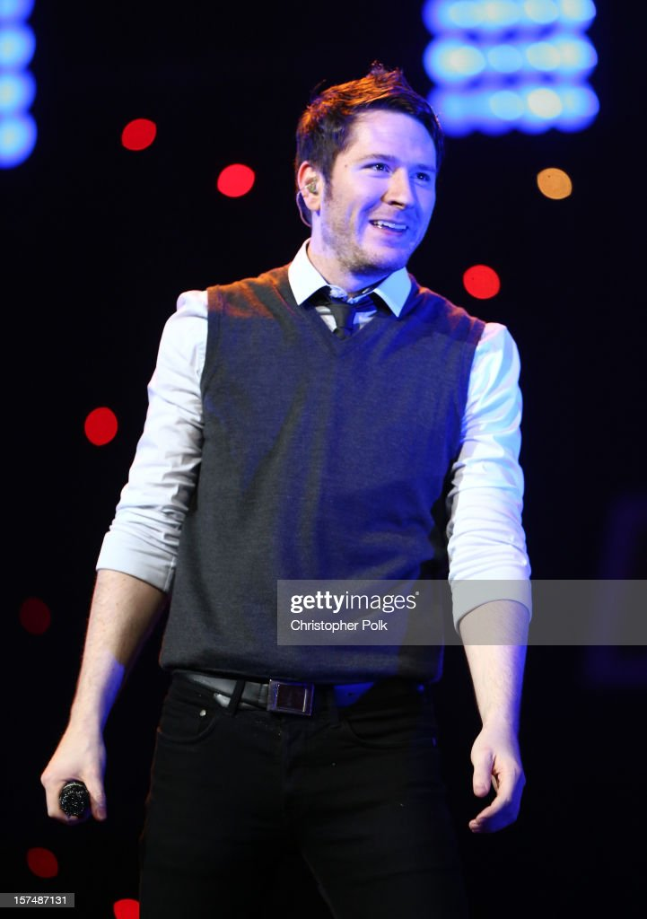 Musician Adam Young of Owl City performs onstage during KIIS FM's 2012 Jingle Ball at Nokia Theatre L.A. Live on December 3, 2012 in Los Angeles, California.