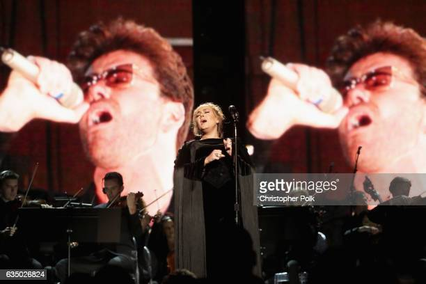 Musician Adele onstage during The 59th GRAMMY Awards at STAPLES Center on February 12 2017 in Los Angeles California