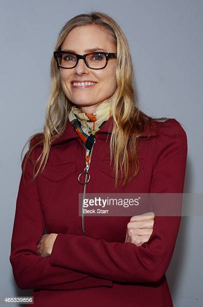 Musician Aimee Mann attends Live Talks 'An Evening With Kim Gordon In Conversation With Aimee Mann' at Aero Theatre on March 5 2015 in Santa Monica...