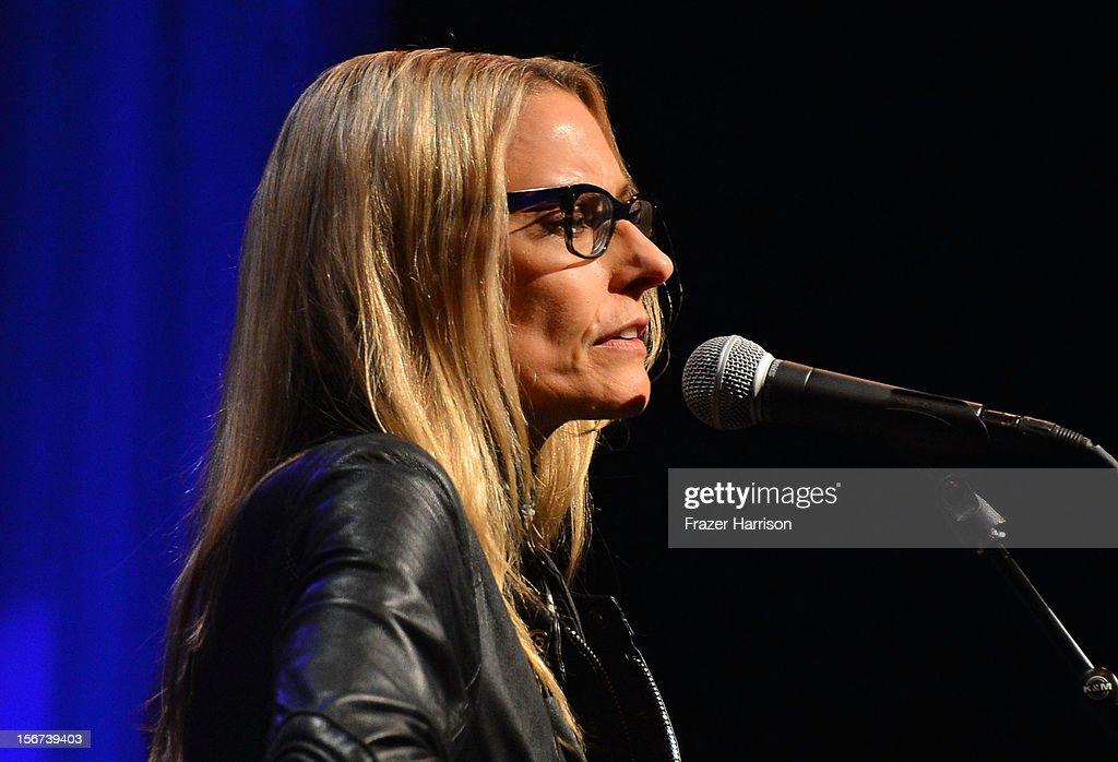 Musician Aimee Mann performs at The Saban Free Clinic's Gala Honoring ABC Entertainment Group President Paul Lee And Bob Broder at The Beverly Hilton Hotel on November 19, 2012 in Beverly Hills, California.