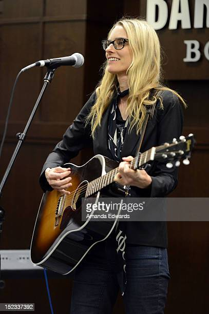 Musician Aimee Mann performs onstage before signing copies of her new CD 'Charmer' at Barnes Noble bookstore at The Grove on September 18 2012 in Los...