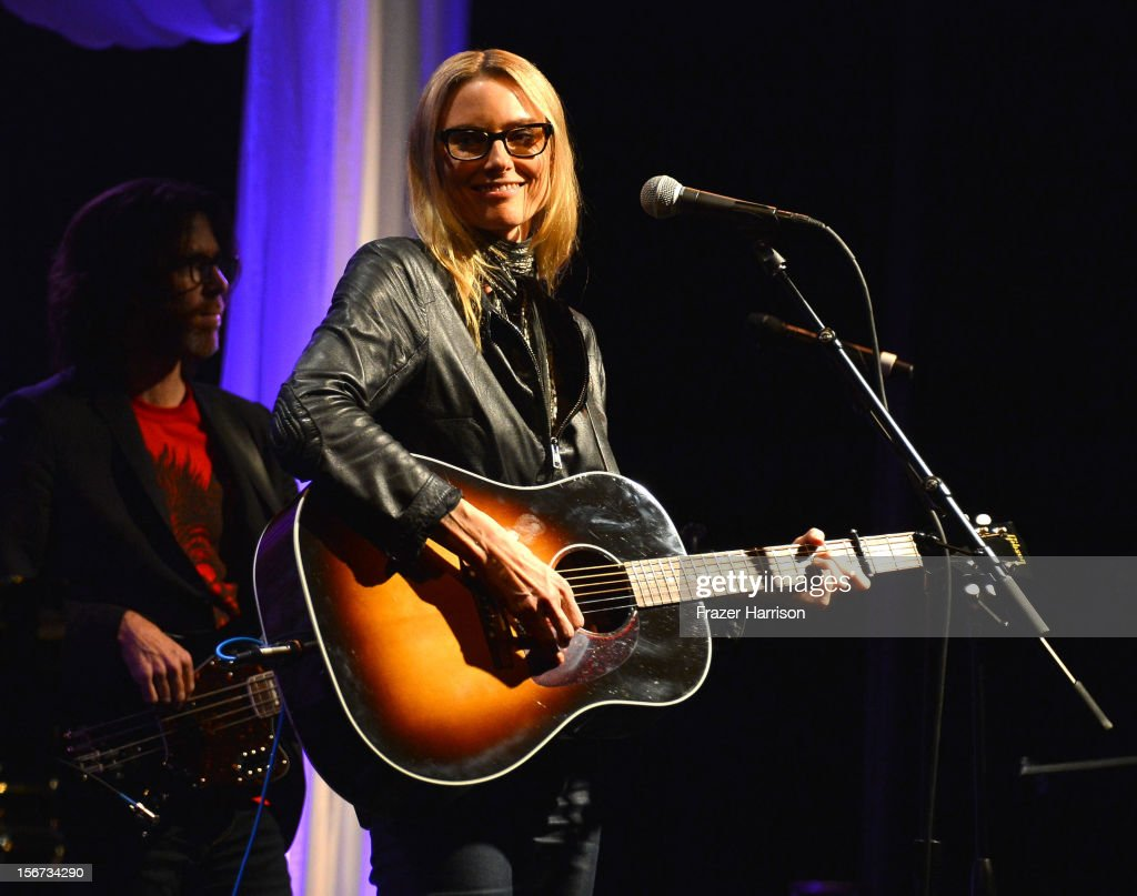 Musician <a gi-track='captionPersonalityLinkClicked' href=/galleries/search?phrase=Aimee+Mann&family=editorial&specificpeople=228529 ng-click='$event.stopPropagation()'>Aimee Mann</a> performs The Saban Free Clinic's Gala Honoring ABC Entertainment Group President Paul Lee And Bob Broder at The Beverly Hilton Hotel on November 19, 2012 in Beverly Hills, California.