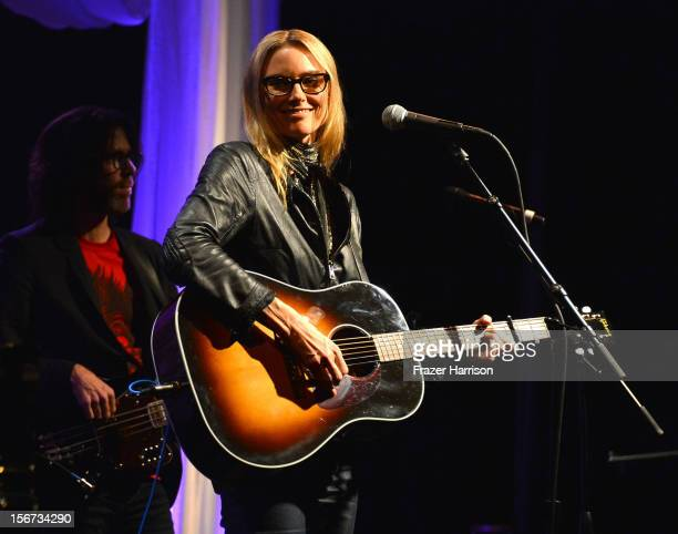 Musician Aimee Mann performs The Saban Free Clinic's Gala Honoring ABC Entertainment Group President Paul Lee And Bob Broder at The Beverly Hilton...