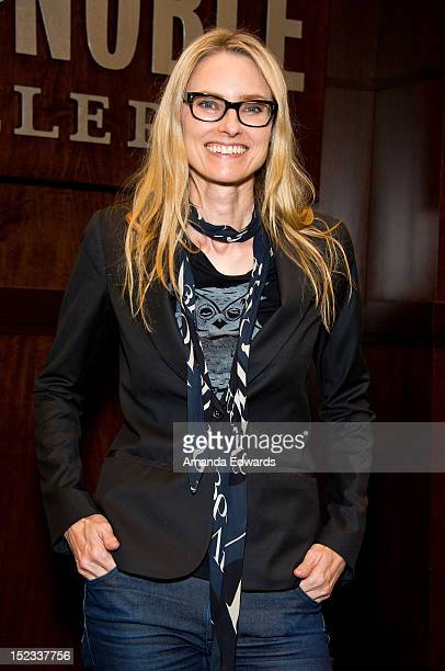 Musician Aimee Mann poses before signing copies of her new CD 'Charmer' at Barnes Noble bookstore at The Grove on September 18 2012 in Los Angeles...