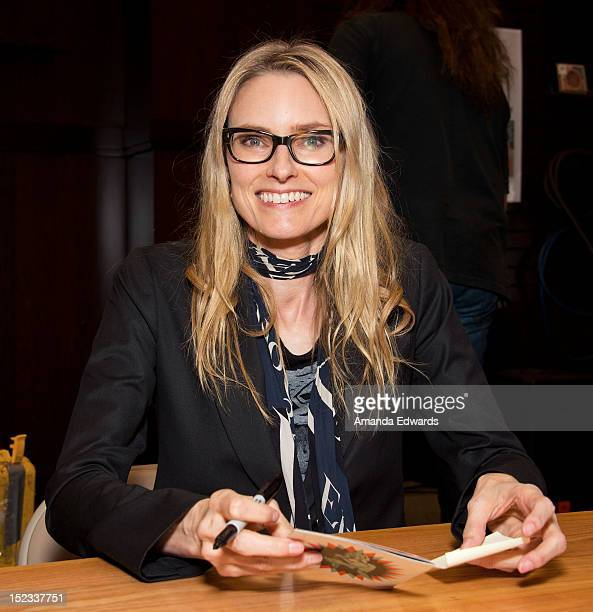 Musician Aimee Mann signs copies of her new CD 'Charmer' at Barnes Noble bookstore at The Grove on September 18 2012 in Los Angeles California