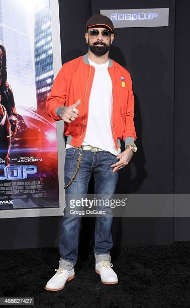 Musician AJ McLean arrives at the Los Angeles premiere of 'Robocop' at TCL Chinese Theatre on February 10 2014 in Hollywood California