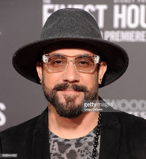 Musician AJ McLean arrives at the premiere of Disney's 'The Finest Hours' at TCL Chinese Theatre on January 25 2016 in Hollywood California