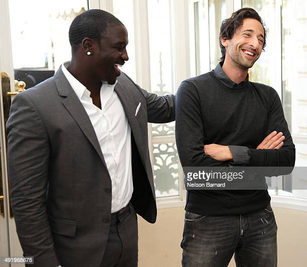 Musician Akon and actor Adrien Brody attend the Stella Artois and Glacier Films Event during the 67th Annual Cannes Film Festival at the Carlton...