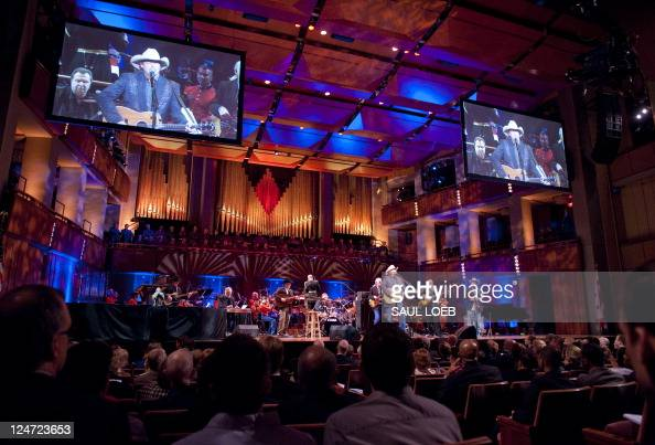 """Musician Alan Jackson performs during """"A Concert for Hope"""" at the Kennedy Center in Washington DC September 11 on the 10th anniversary of the..."""