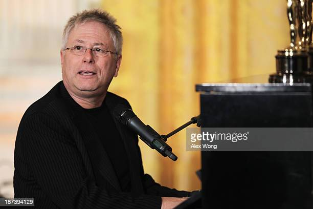 Musician Alan Menken plays piano and sings during a workshop for high school students from DC New York and Boston about careers in film production...