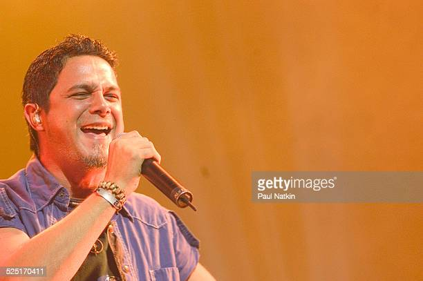 Musician Alejandro Sanz performs in the Rosemont Theater Rosemont Illinois May 4 2004