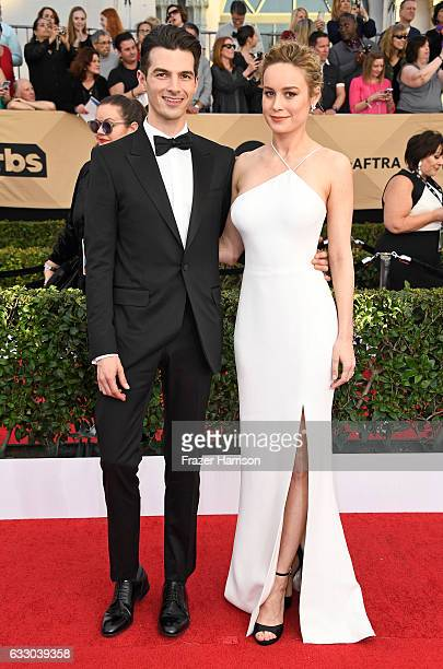 Musician Alex Greenwald and actor Brie Larson attend The 23rd Annual Screen Actors Guild Awards at The Shrine Auditorium on January 29 2017 in Los...