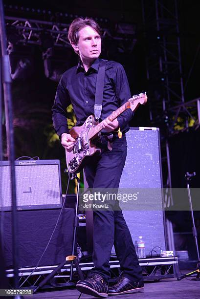 Musician Alex Kapranos of Franz Ferdinand performs onstage during day 2 of the 2013 Coachella Valley Music And Arts Festival at the Empire Polo Club...