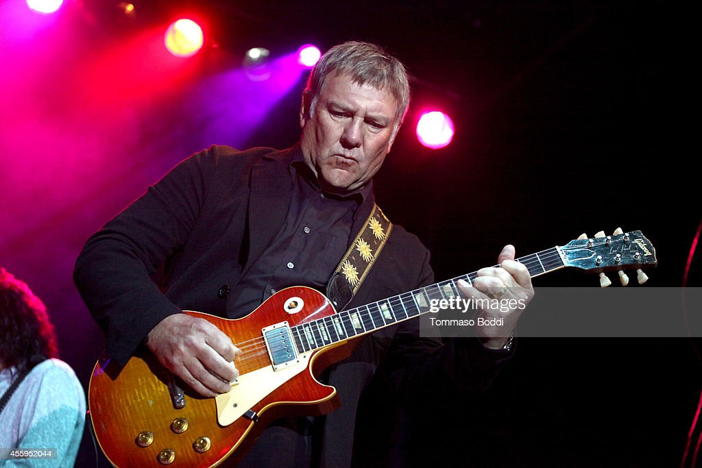 Musician Alex Lifeson performs at the 7th annual Scott Medlock-Robby Krieger Invitational & All-Star Concert benefiting St. Jude held at Moorpark Country Club on September 22, 2014 in Moorpark, California.