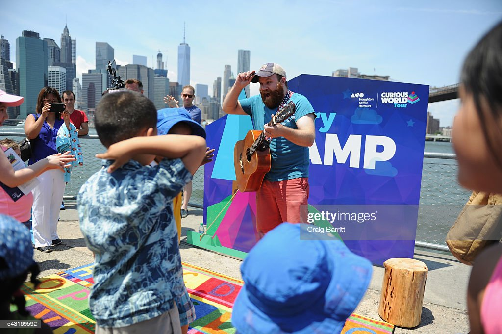 Musician Alex Murray performs at Houghton Mifflin Harcourt Kicks Off 'Curious World' Summer Tour, Inspiring Playful Learning Nationwide on June 26, 2016 at Brooklyn Bridge Park in Brooklyn, New York.