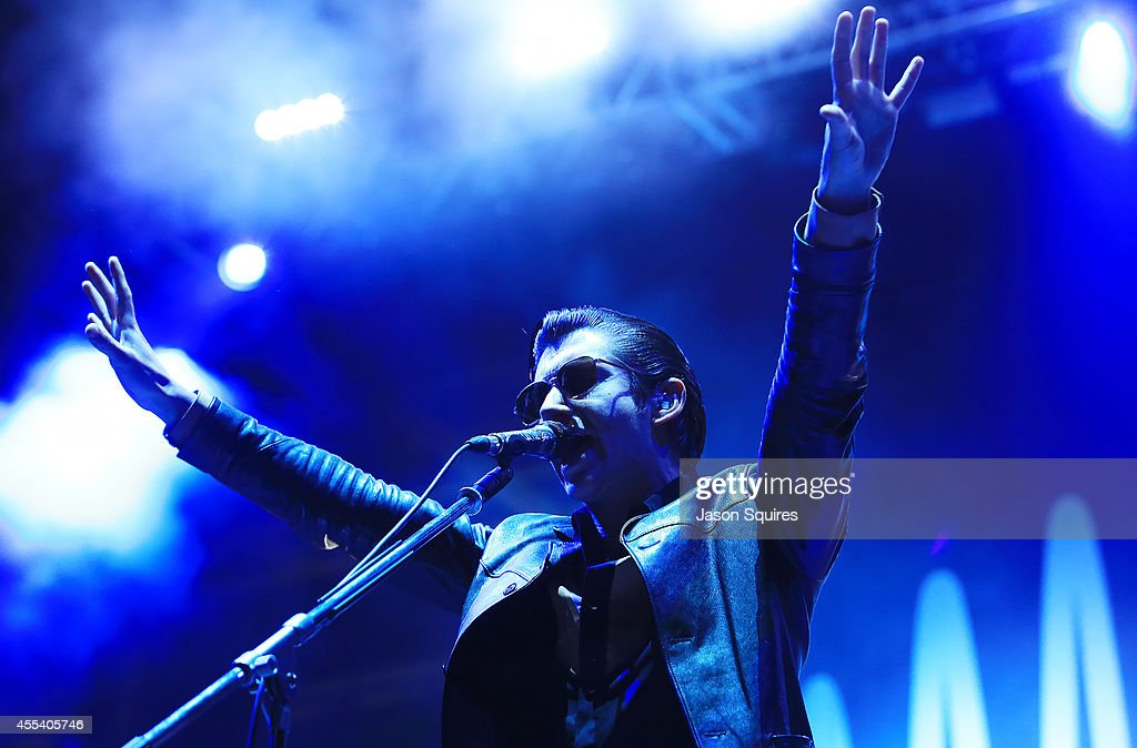 Musician <a gi-track='captionPersonalityLinkClicked' href=/galleries/search?phrase=Alex+Turner&family=editorial&specificpeople=706618 ng-click='$event.stopPropagation()'>Alex Turner</a> of Arctic Monkeys performs at Buzz Beach Ball 2014 at Sporting Park on September 5, 2014 in Kansas City, Kansas.