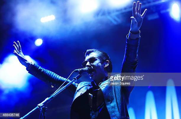 Musician Alex Turner of Arctic Monkeys performs at Buzz Beach Ball 2014 at Sporting Park on September 5 2014 in Kansas City Kansas