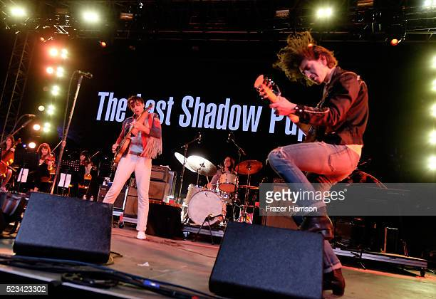 Musician Alex Turner of The Last Shadow Puppets performs onstage during day 1 of the 2016 Coachella Valley Music Arts Festival Weekend 2 at the...