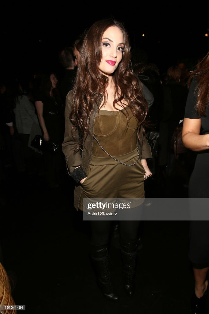 Musician Alexa Ray Joel attends the Charlotte Ronson Fall 2013 Presentation during Mercedes-Benz Fashion Week at The Box at Lincoln Center on February 8, 2013 in New York City.