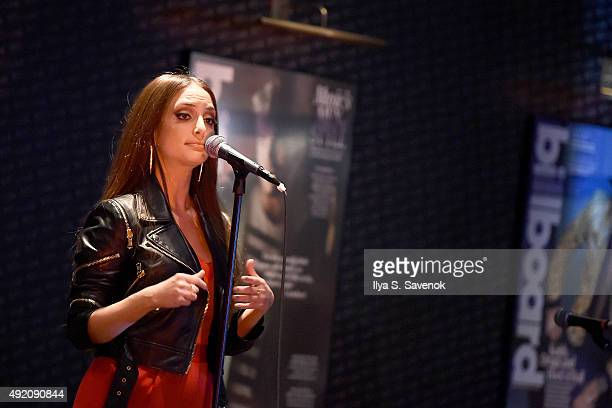 Musician Alexa Ray Joel performs at Billboard Lounge on October 9 2015 in New York City