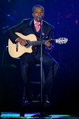 Musician Alexandre Pires performs onstage during the 2008 Latin Recording Academy Person of the Year awards tribute to Gloria Estefan held at the...