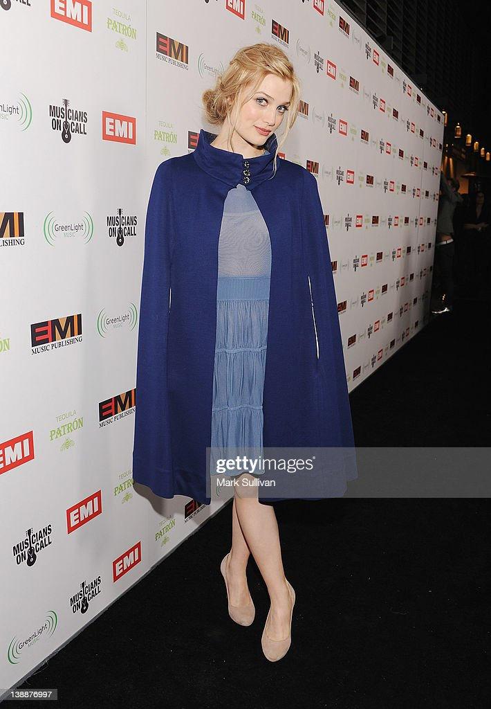 Musician Ali Sudol of A Fine Frenzy attends the EMI Post-GRAMMY Party held at The Capitol Tower at Capitol Records Tower on February 12, 2012 in Los Angeles, California.