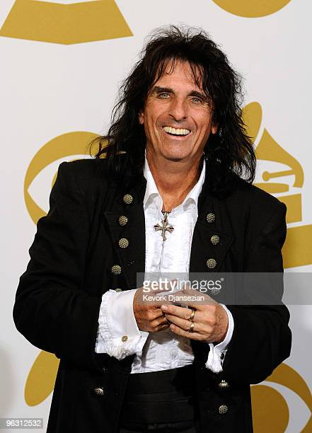 Musician Alice Cooper poses in the press room during the 52nd Annual GRAMMY Awards held at Staples Center on January 31 2010 in Los Angeles California
