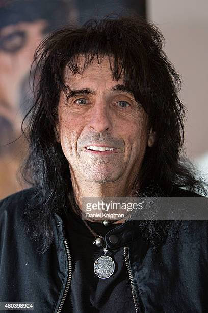 Musician Alice Cooper speaks to the media at a press conference for his annual Christmas Pudding charity show at Comerica Theatre on December 12 2014...