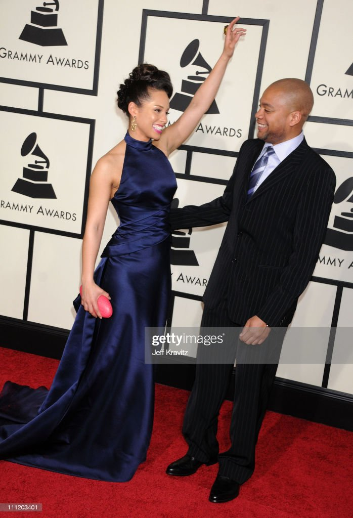 Musician Alicia Keys and Kerry Brothers arrive to the 50th Annual GRAMMY Awards at the Staples Center on February 10 2008 in Los Angeles California