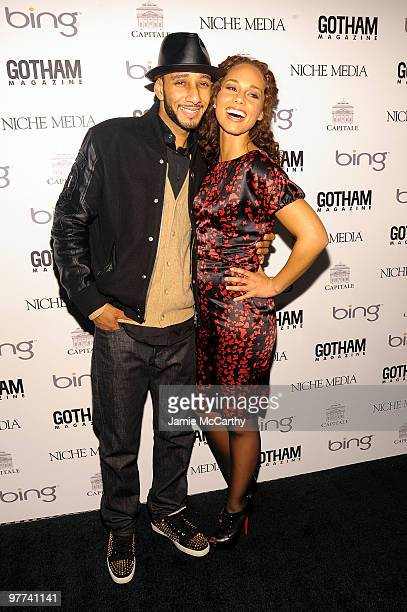 Musician Alicia Keys and recording artist Swizz Beatz attend Gotham Magazine's Annual Gala hosted by Alicia Keys and presented by Bing at Capitale on...