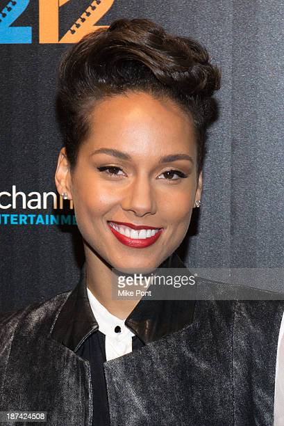 Musician Alicia Keys attends the '121212' New York Premiere at the Ziegfeld Theater on November 8 2013 in New York City