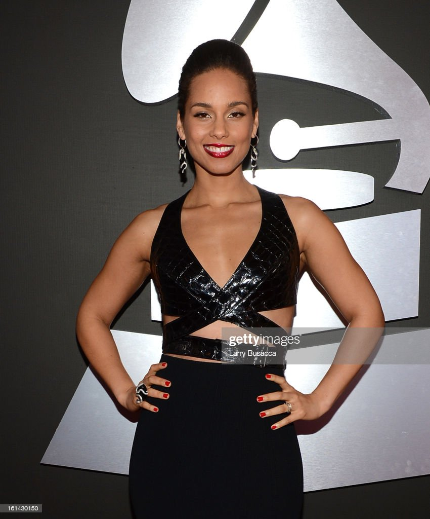 Musician Alicia Keys attends the 55th Annual GRAMMY Awards at STAPLES Center on February 10, 2013 in Los Angeles, California.