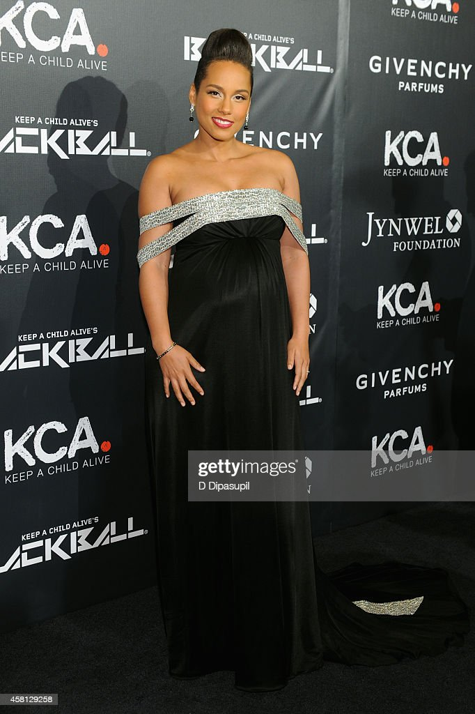 Musician Alicia Keys attends the 9th annual Keep A Child Alive Black Ball at Hammerstein Ballroom on October 30, 2014 in New York City.