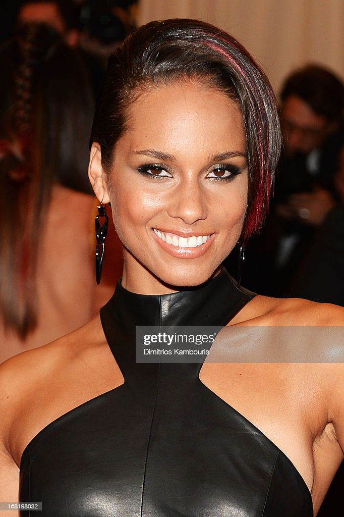 Musician Alicia Keys attends the Costume Institute Gala for the 'PUNK: Chaos to Couture' exhibition at the Metropolitan Museum of Art on May 6, 2013 in New York City.