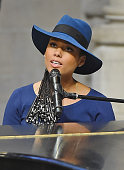 Musician Alicia Keys attends the Ruby Dee Memorial Service at Assembly Hall of the Riverside Church on September 20 2014 in New York City