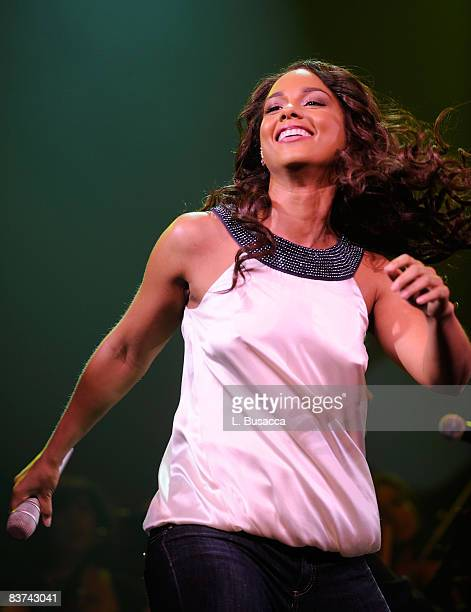 Musician Alicia Keys performs during the Grand Opening Weekend Celebration at MGM Grand at Foxwoods Resort Casino on May 17 2008 in Ledyard CT