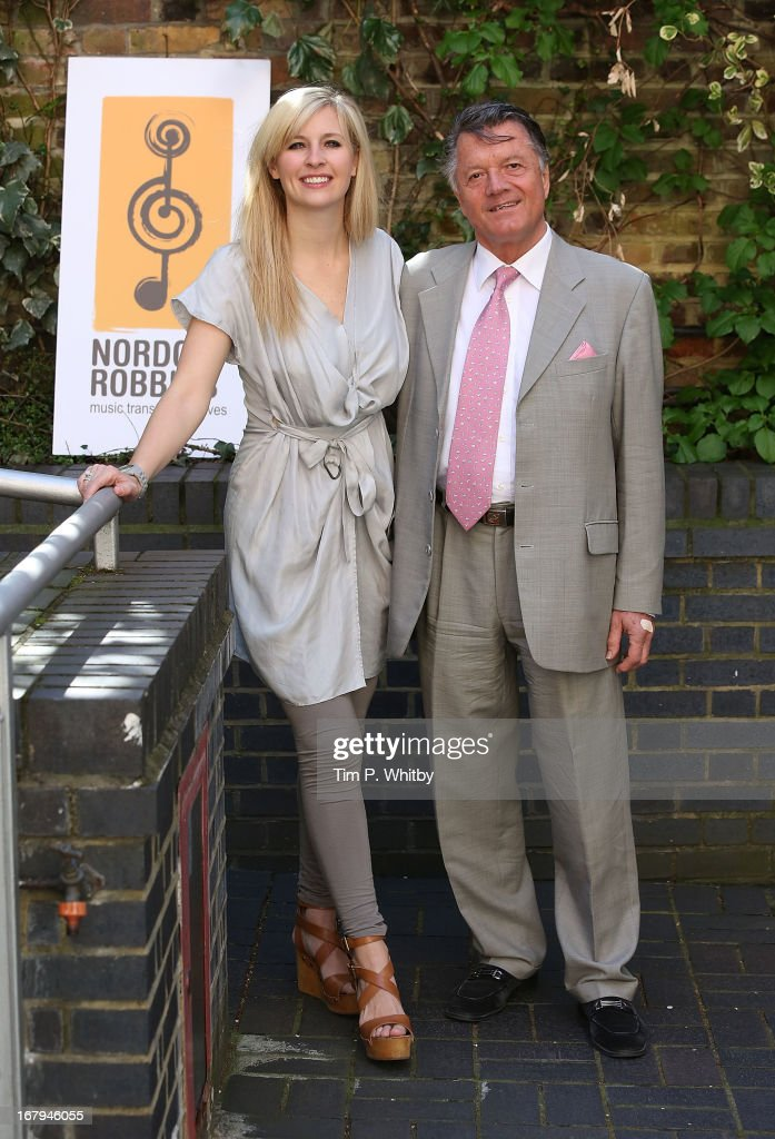 Musician <a gi-track='captionPersonalityLinkClicked' href=/galleries/search?phrase=Alison+Balsom&family=editorial&specificpeople=651462 ng-click='$event.stopPropagation()'>Alison Balsom</a> and Chairman of PPL Fran Nevekla visit the Nordoff Robbins Music Therapy Centre on May 2, 2013 in London, England.