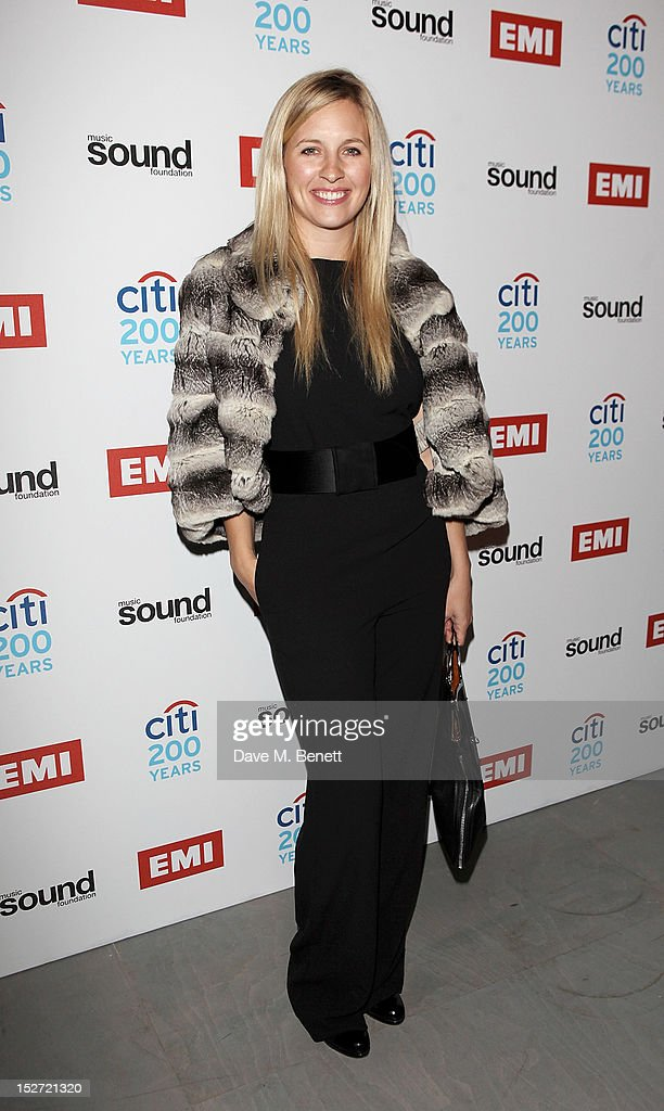 Musician Alison Balsom arrives at the EMI Music Sound Foundation fundraiser at Somerset House on September 24, 2012 in London, England.